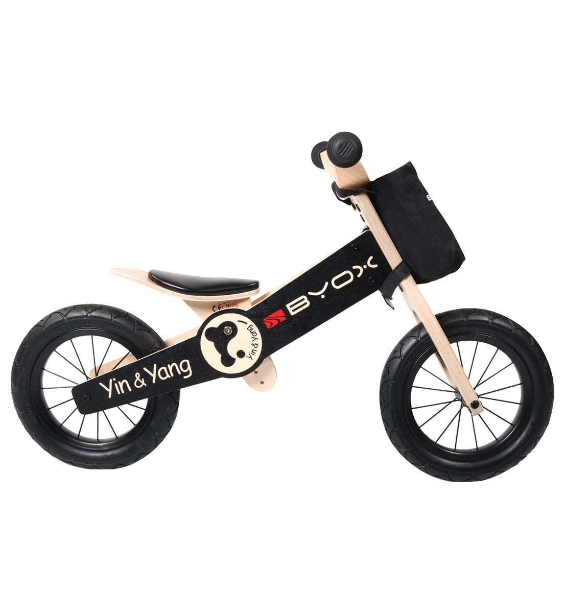 73445abae8c store.bg - Yin Yang - Детски дървен велосипед без педали